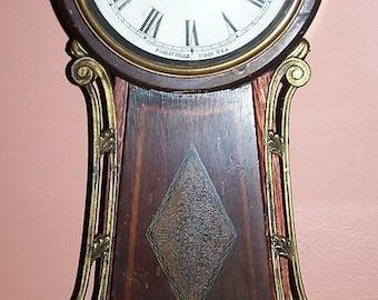 Antique Sessions Halifax Eight Day Windup Pendulum Banjo Clock