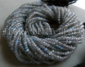 """13"""" strand AAA LABRADORITE faceted gem stone rondelle beads 3mm blue green"""