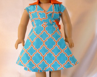 18 inch American Girl Clothes-Wrap Dress D023