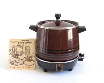 West Bend Lazy Day Slow Cooker 5225 Brown Round (as-is)