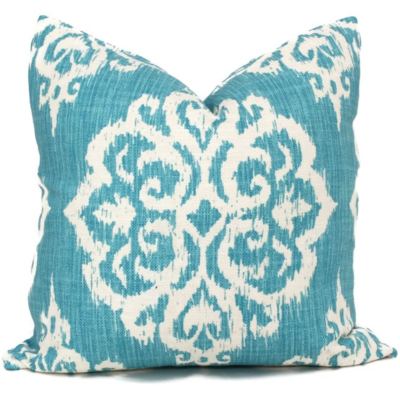 turquoise suzani decorative pillow cover 18x18 20x20 22x22