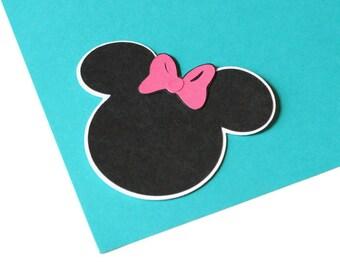 Minnie Mouse die cuts - 4 dies (3 in.) - choose your colors (C22)