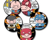 SUPER PIGS Personalized stickers for Teachers