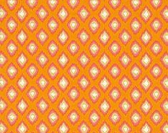 25198 - Dena Designs Tangier Ikat PWDF171  Diamond in Orange  color  - 1 yard