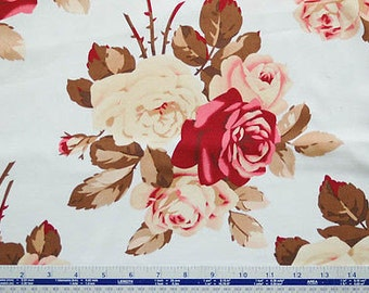 90440 Tanya Whelan Petal collection Large Antique Roses in Blue color Home Dec fabric SATW055- 1 yard
