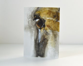 High Quality Postcard, Look XIV, Equine Art Print