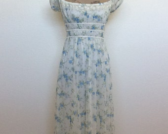 1990s Summer Dress by Jessica McClintock for Gunne Sax
