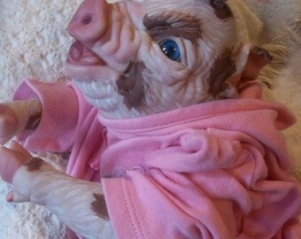 custom  made to order reborn baby Piglet -piggy doll baby