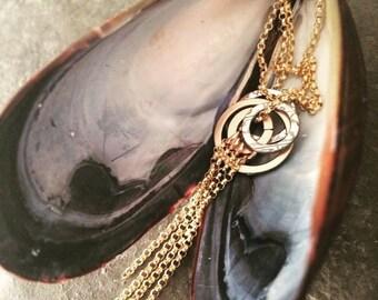 Amrita Necklace ~ Med ~ Gold Fringe
