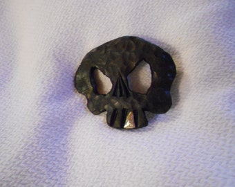 "Skull Belt Buckle - Forged Iron- Forged in the Rocky Mountains - ""Jolly Roger"""