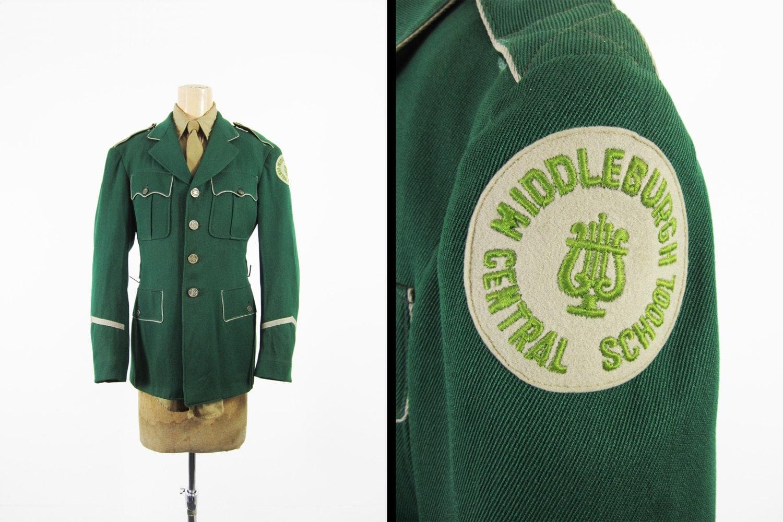 Vintage Middleburgh Marching Band Uniform Jacket Green