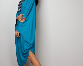 Turquoise Sweater Dress / Batwing Tunic / Ligt Turquoise Top Dress : Urban Chic Collection no.8
