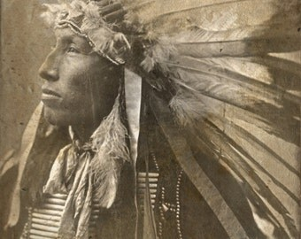 Rustic Canvas Wall Art by Norman Posey - Sioux Indian, Native American