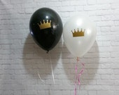 Crown Decals and Balloons Set of 12 Your Choice of Colors