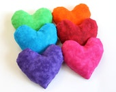 Rainbow Bean Bags Heart Shaped  Lime Green Violet Pink Blue Red Orange Homeschool (set of 6) - US Shipping Included