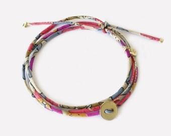 Liberty Bracelet Gold Plated Button • Bracelet Liberty et Bouton en Plaqué Or