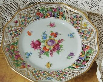Carl Schumann Royal Dresden Reticulated Dinner Plate