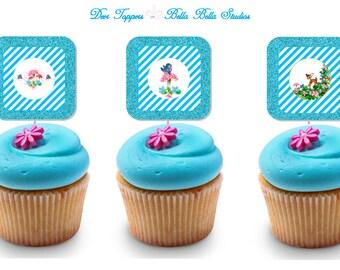 DEER CUPCAKE TOPPERS ~ Printable Instant Download