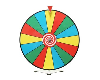 """Table Top Prize Wheel / Spinning Wheel /24"""" Editable Dry Erase Color Prize Wheel of Fortune Spinning Game Tradeshow New"""