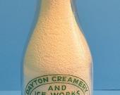 RESERVED FOR GAIL Dayton Washington Milk Bottle, Vintage Milk Bottle, Dayton Creamery and Ice Works