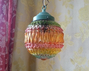 Pressed Glass Pendant Lighting, Summer Colors