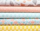 Grey Abbey Organic Fabric Bundle - Half Yard Bundle - 5 half yard pieces (B360)