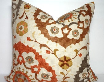 Richloom Cornwall  Suzani Print Pillow Cover Decorative Floral Pillow Cover 18x18