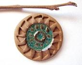 Sun Sky Mandala Pendant Stoneware Clay