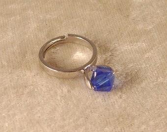 Sapphire Blue Swarovski Crystal Ring