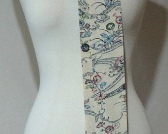 Vintage Kimono Silk Scarf, Neck Tie, Necktie, Skinny Scarf, Neck Kerchief, Obi, Sash