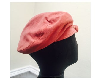 Vintage 1970s Pink Bow Hat/Beret