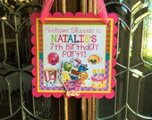 Shopkins Birthday Party Door Sign