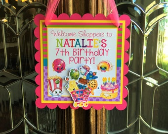Shopkins Birthday Party Door Sign
