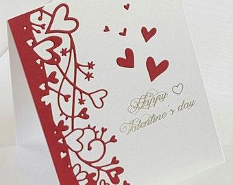 "Valentine card, love, Valentine's day gift, greeting, size A2, 4 1/4"" X 5 1/2"""