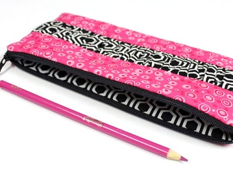 SALE - Pencil Pouch - LARGE FLAT - Bible Journaling - Cosmetic Case -  Ready to Ship