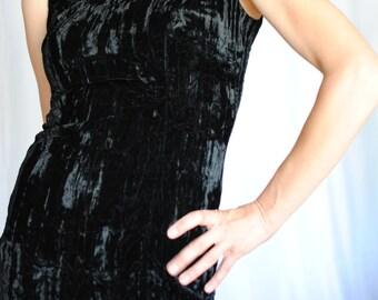 Punk Label 80s Betsey Johnson crushed velvet fitted mini dress