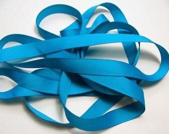 """5/8"""" Grosgrain Ribbon - Turquoise"""