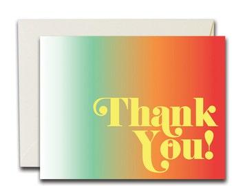 Thank You Rainbow Card, SALE