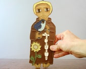 Saint Andrew's Abbey Ceramic Plaque - St Francis of Assisi