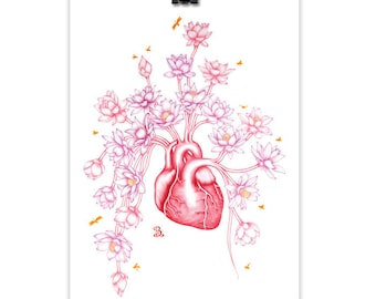 Heartful of Possibilities // Heart Print, Art Print, Wall Art, Giclee Print, Colour Pencil Drawing