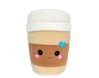 Coffee Cup plushie , kawaii plush soft toy home decor novelty pillow