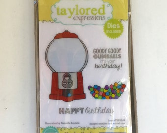 Taylored Expressions Stamp and Die set, Goody Goody Gumballs, card making, scrapbooking, stamping, art journaling, planning, mini albums