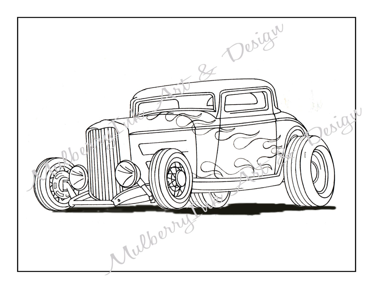 Antique cars coloring pages - Coloring Page Classic Car Coloring Page Hot Rod Coloring Page Adult Coloring Page Cars Coloring Book Adult Coloring Book Kids Coloring Page