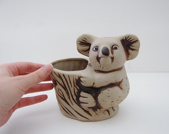 Koala Bear Planter, Armbee Pottery, Indoor Garden Plants, Australian Wildlife