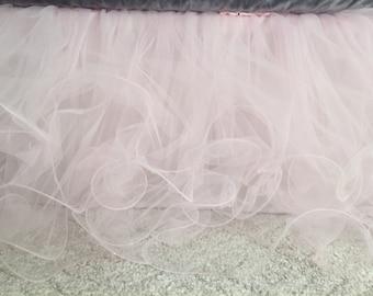 Custom Tulle Crib Skirt - 4 layers  3 sided