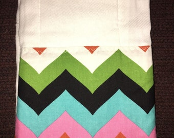 Custom Embroidered Burp Cloth in Let's Party