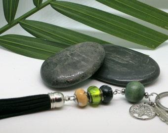 """Porte-clés//Arbre de vie//""""YAronta""""// jour de la Terre// amérindien//keychain// Earth day//tree of life//handmade"""