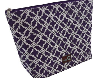 Della Q Large Cotton Zip Pouch in A Variety of Limited Edition Fabrics 1103-1 New