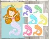 Pin the Tail on the Mermaid - INSTANT DOWNLOAD - PRINTABLE