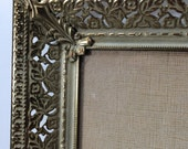 Gold Picture Frame, Gold Metal Filigree Picture Frame, Ornate Picture Frame, Photo Frame, Wedding Frame, 8 x 10 Frame